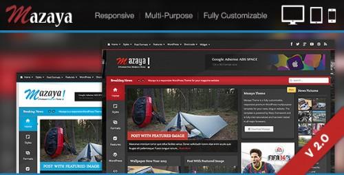 Mazaya Responsive WordPress News, Magazine Theme