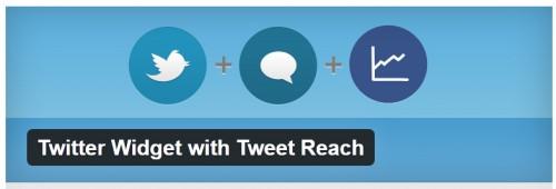 Twitter Widget with Tweet Reach
