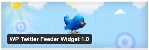 WP Twitter Feeder Widget 1.0
