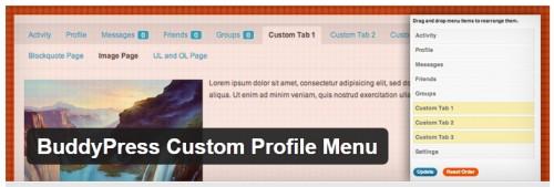 BuddyPress Custom Profile Menu