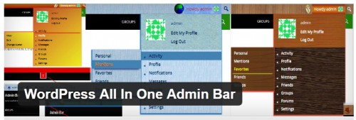 WordPress All In One Admin Bar