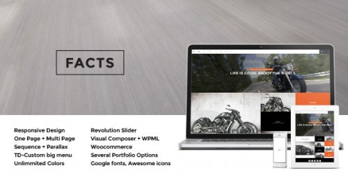 Facts - Responsive MultiPurpose WP Theme