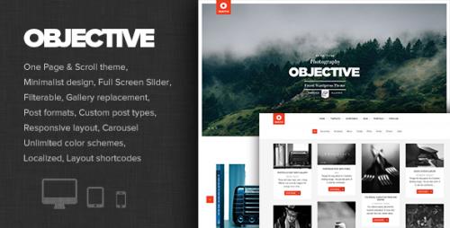 Objective - Responsive Portfolio Photography Theme