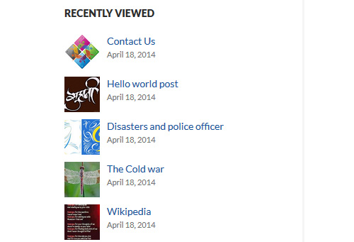 Posts Viewed Recently