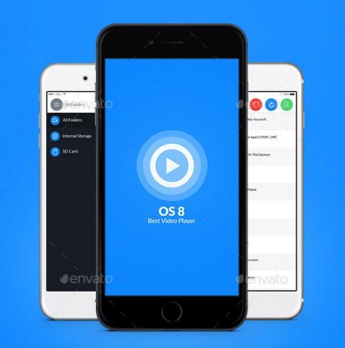OS 8 Video Player UI Kit