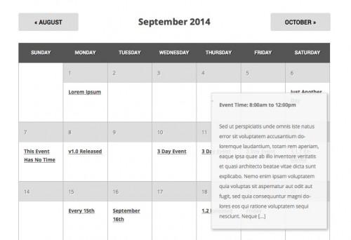 Event List Calendar