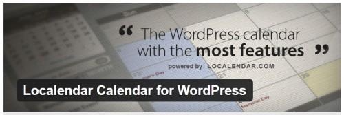 Localendar Calendar for WordPress