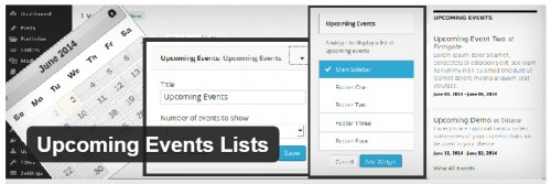 Upcoming Events Lists