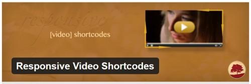 Responsive Video Shortcodes