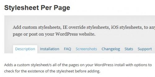 Stylesheet Per Page