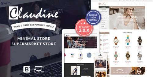 Claudine - Drag & Drop Responsive OpenCart Theme