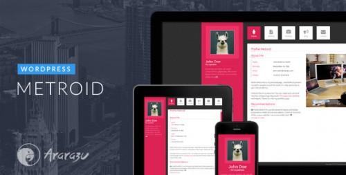 Metroid Responsive WordPress vCard Theme