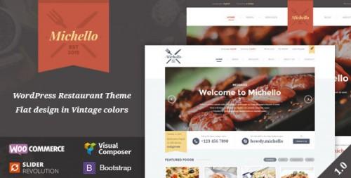 Michello - WordPress WooCommerce Restaurant Theme