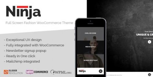 Ninja - Full Screen Fashion WooCommerce Theme