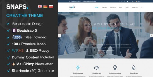 Snaps - Creative SEO Ready WordPress Theme