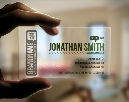 13_Transparent Business Card