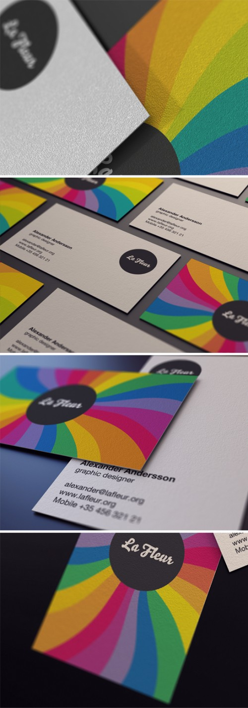 20_Colorful Business Card