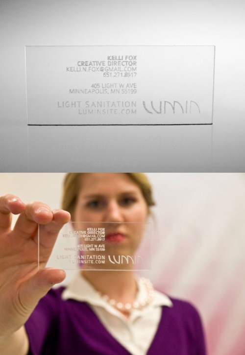 25_Plexiglass Business Card