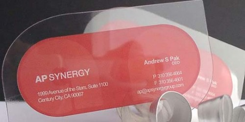 26_Clear Plastic Business Cards
