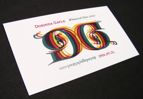 26_Dorinda Gayle Logo Business Card