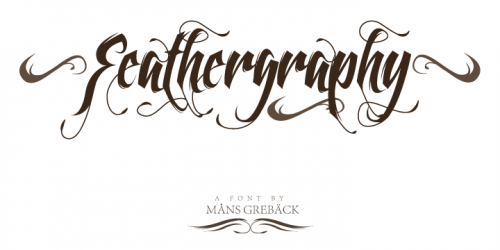 3_Feathergraphy Decoration Font