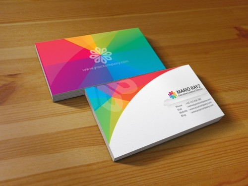 3_Rainbow Petals Business Card