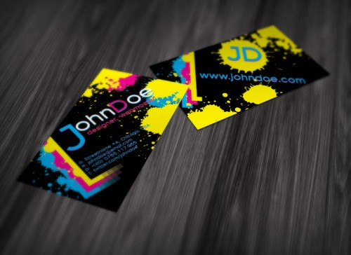 8_Splattered Ink Business Card