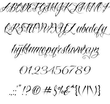 Tattoo Lettering Fonts