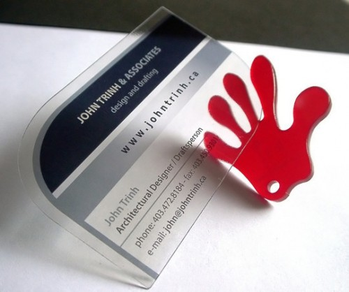 9_Clear Plastic Business Cards