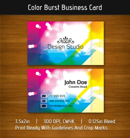 9_Color Burst Business Card