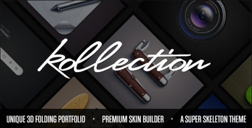 12_Kollection - 3D Folding Portfolio Theme