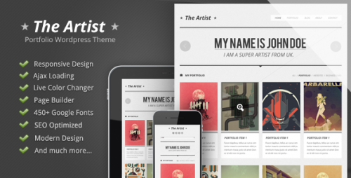 14_The Artist - Clean Responsive Portfolio Theme