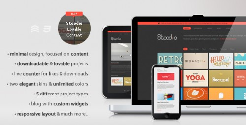 18_Stoodio - A Minimal Theme For Lovable Content