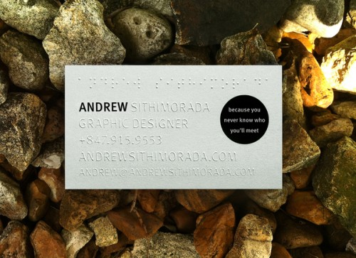 19_Blind Embossed Business Card