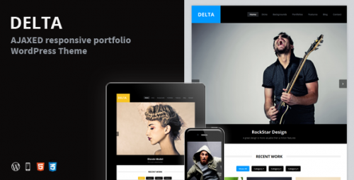 25_DELTA - AJAX Portfolio Responsive WordPress Theme