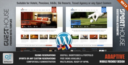 2_Guesthouse - Hotel & Sport Center 2in1 Premium Theme