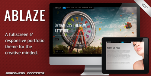 50_Ablaze - Responsive Fullscreen WordPress Theme