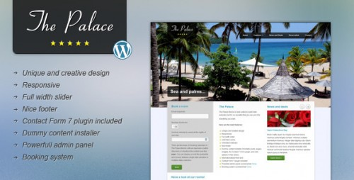 6_The Palace - Hotel and Business WordPress Theme