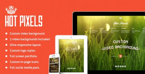 7_Hot Pixels - Video Background Portfolio WP Theme