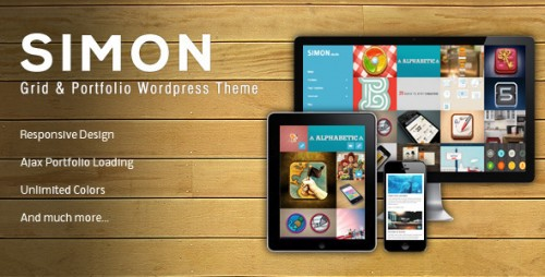 8_Simon - Wordpress & Portfolio Theme