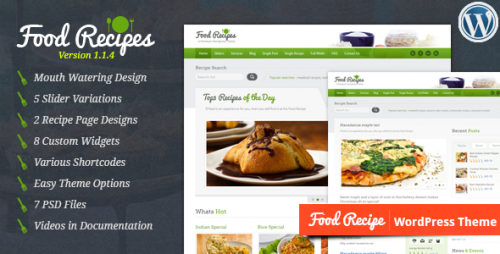 9_Food Recipes - WordPress Theme