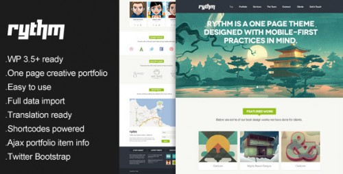 23_Rythm - One Page Responsive WordPress Theme