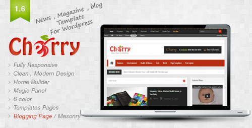 25_Cherry - Responsive News and Magazine Theme