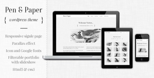 30_Pen and Paper - Responsive WordPress Theme
