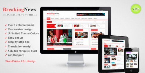 31_BreakingNews - Responsive WordPress Theme