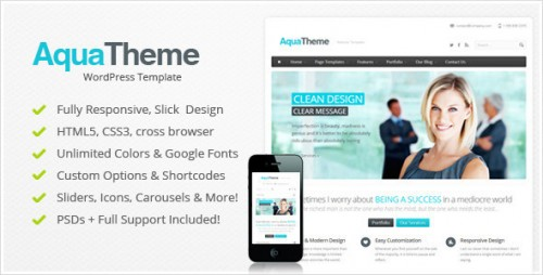 40_Aqua - Responsive Multi-Purpose Wordpress Template