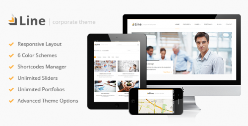 50_Line - Responsive Corporate WordPress Theme