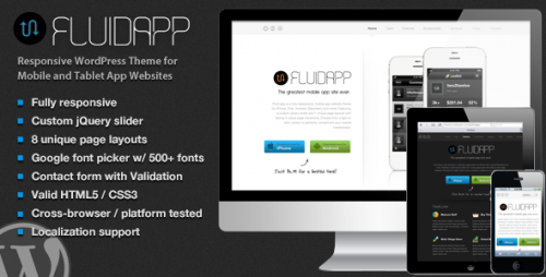 7_FluidApp - Responsive Mobile App WordPress Theme