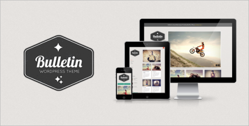 8_Bulletin Responsive Tumblog WordPress Theme