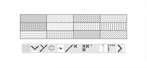 12 Pixel Black Patterns